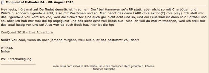 ConQuest Larp Großcon