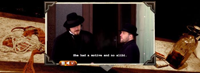"""Ausschnitt aus """"Noir"""" (interaktives Video)"""